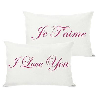 Je Taime Reversible Lumbar Pillow