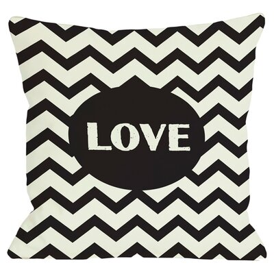Chevron Love Throw Pillow