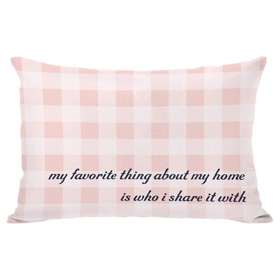 About My Home Lumbar Pillow