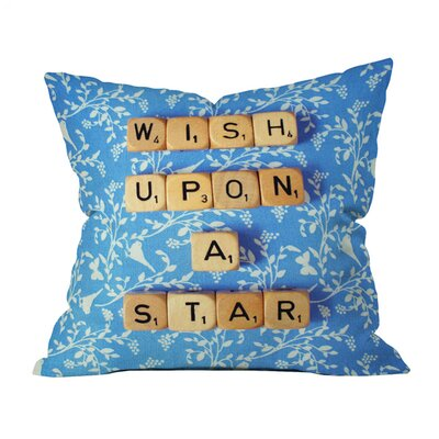 Happee Monkee Wish Upon a Star 1 Outdoor Throw Pillow Size: 20 H x 20 W x 5 D