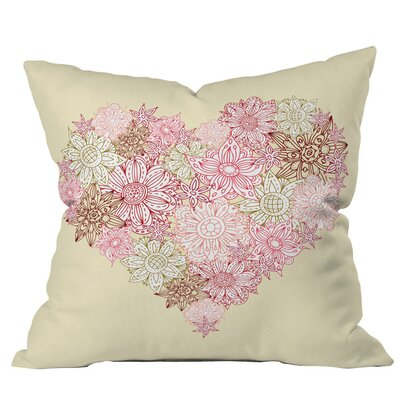 Sabine Reinhart Heart One Outdoor Throw Pillow