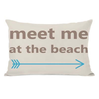 Meet Me at The Beach Lumbar Pillow