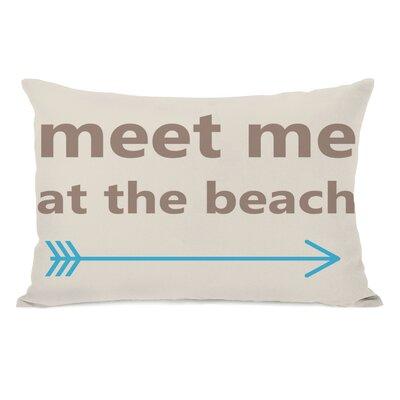 Meet Me at The Beach Lumbar Pillow
