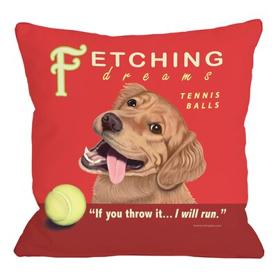 Fetching Dreams Throw Pillow