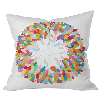 Sharon Turner Fizzy Feathers Outdoor Throw Pillow