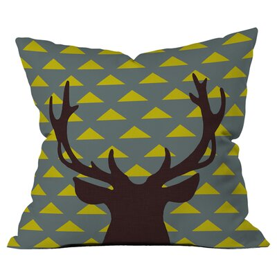 Natt Mountain Deer Outdoor Throw Pillow