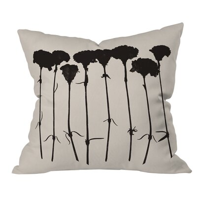 Garima Dhawan Carnations Outdoor Throw Pillow