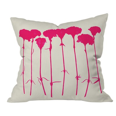 Garima Dhawan Carnations Throw Pillow Size: 18 H x 18 W x 5 D