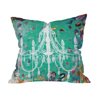 Kent Youngstrom Emerald Chandelier Outdoor Throw Pillow