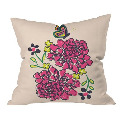 Vy La Budding Love Outdoor Throw Pillow