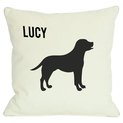Personalized Lab Throw Pillow