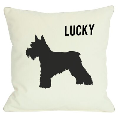 Personalized Schnauzer Throw Pillow