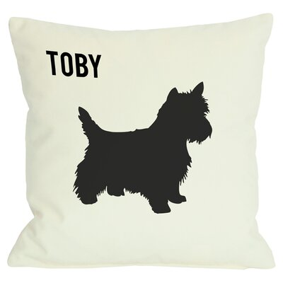 Personalized Westie Throw Pillow