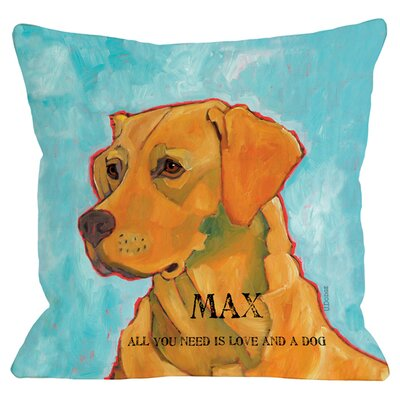 Personalized Love and A Lab Throw Pillow