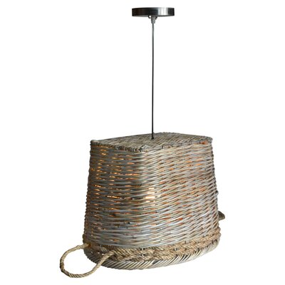 Harbor Rattan 1-Light Inverted Pendant