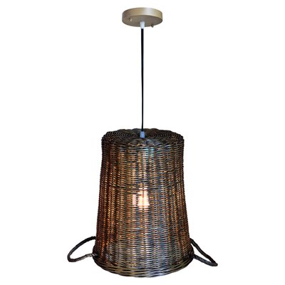 Ellis Rattan 1-Light Inverted Pendant