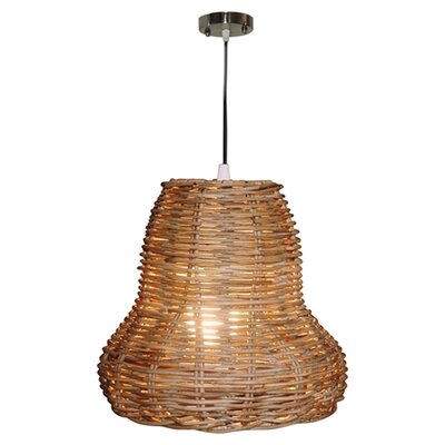 Seabrook Rattan 1 Light Mini Pendant