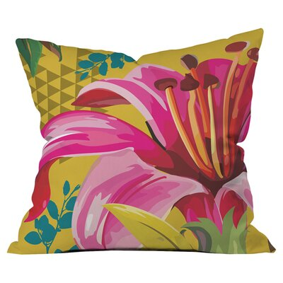 Juliana Curi Mix Flower 2 Outdoor Throw Pillow