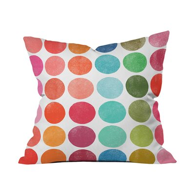 Garima Dhawan Colorplay 5 Outdoor Throw Pillow Size: 18 H x 18 W x 6 D