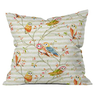 Betsy Olmsted Owl Tree 1 Outdoor Throw Pillow