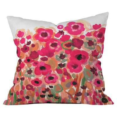 Natasha Wescoat Brightly Blooming Outdoor Throw Pillow