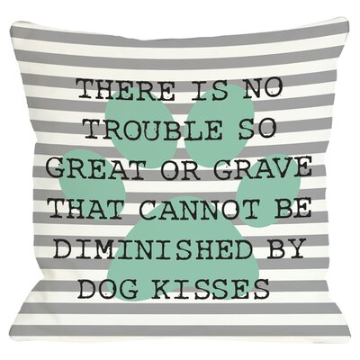 Dog Kisses Throw Pillow