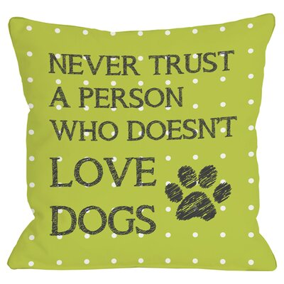 Love Dogs Throw Pillow