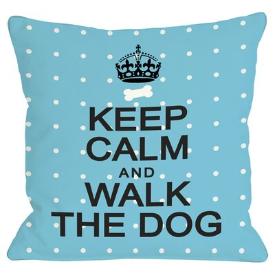 Walk the Dog Throw Pillow