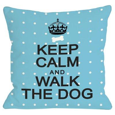 Walk the Dog Throw Pillow
