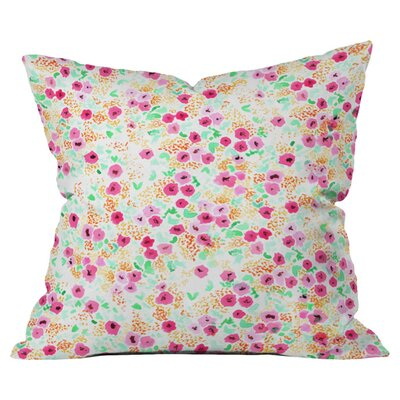 Joy Laforme Sun Faded Floral Outdoor Throw Pillow Size: 16 H x 16 W x 4 D
