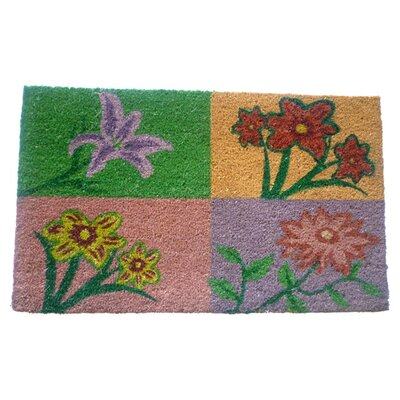 Four Flowers Doormat