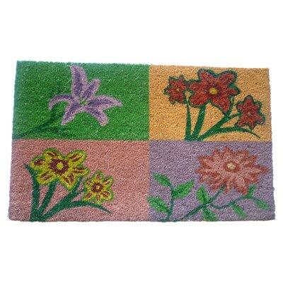 Four Flowers Doormat