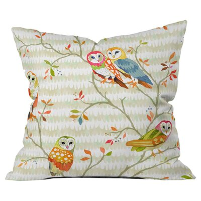 Betsy Olmsted Owl Tree 2 Outdoor Throw Pillow