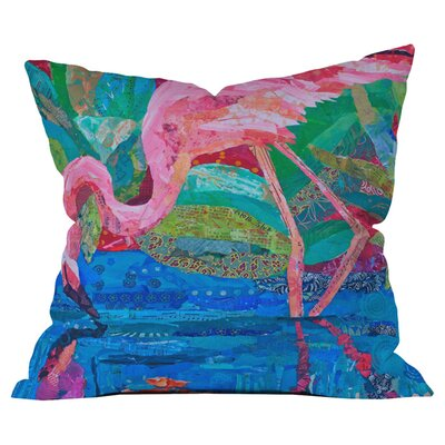 Elizabeth St Hilaire Nelson Flamingo 2 Outdoor Throw Pillow Size: 16 H x 16 W