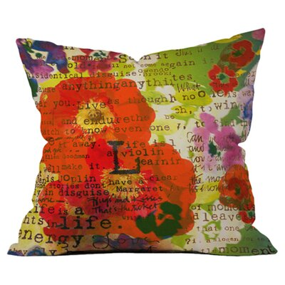 Irena Orlovs Poppy Poetry 3 Outdoor Throw Pillow Size: 26 H x 26 W