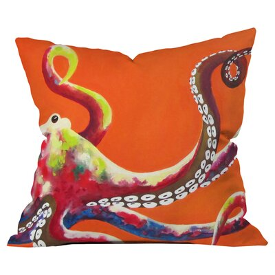Clara Nilles Jeweled Octopus Outdoor Throw Pillow Size: 26 H x 26 W