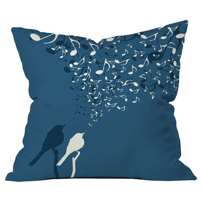 Belle 13 Love Song Outdoor Throw Pillow Size: 18 H x 18 W