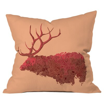 Martin Bunyi Elk Outdoor Throw Pillow Size: 26 H  x 26 W x 5 D