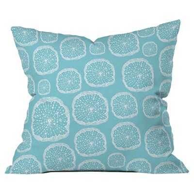 Rachael Taylor Wheel of Wonder Turquoise Outdoor Throw Pillow Size: 26 H x 26 W x 5 D