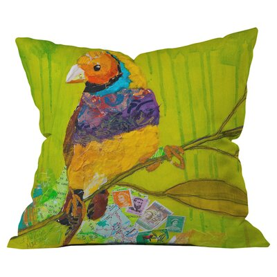 Elizabeth St Hilaire Nelson Gouldian Finch Outdoor Throw Pillow Size: 18 H x 18 W
