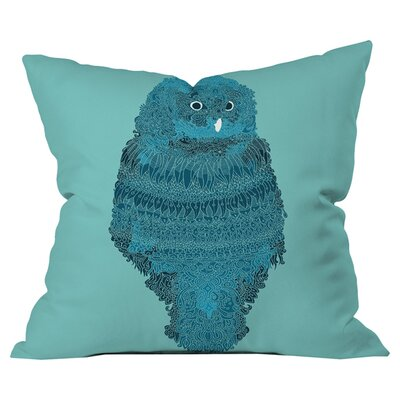 Martin Bunyi Owl Outdoor Throw Pillow Size: 18