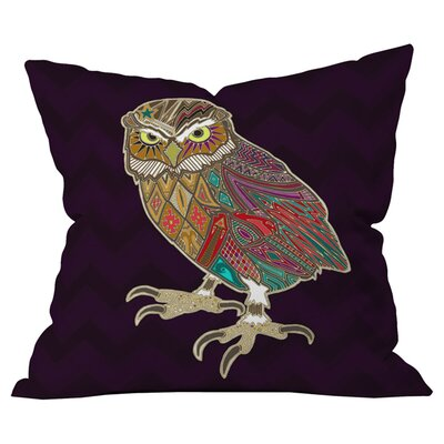Sharon Turner Little Brother Owl Outdoor Throw Pillow Size: 26 H x 26 W