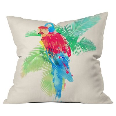 Robert Farkas Tropical Party Outdoor Throw Pillow Size: 18 H x 18 W x 5 D