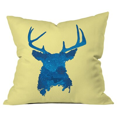 Martin Bunyi Deerhead Outdoor Throw Pillow Size: 26 H  x 26 W x 5 D