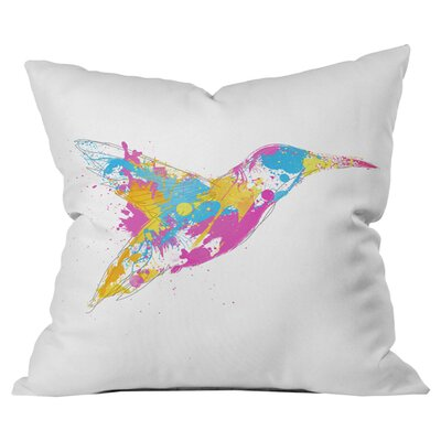Robert Farkas Bird of Colour Outdoor Throw Pillow Size: 16 H x 16 W x 5 D