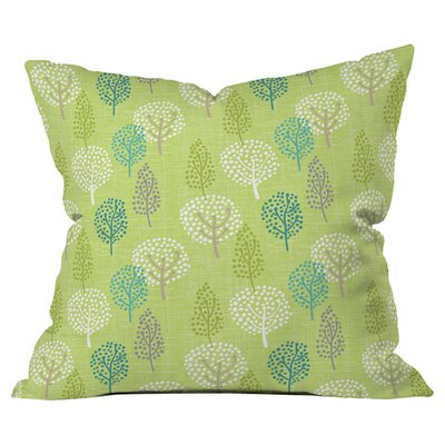 Wendy Kendall Linen Tree Outdoor Throw Pillow Size: 18 H x 18 W