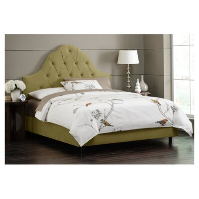 Melonie Tufted Cotton Upholstered Platform Bed Size: King