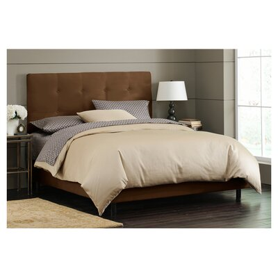 Parnell Tufted Microsuede Upholstered Panel Bed Size: King, Color: Chocolate