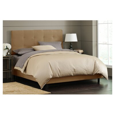 Parnell Tufted Microsuede Upholstered Platform Bed Size: King, Color: Saddle