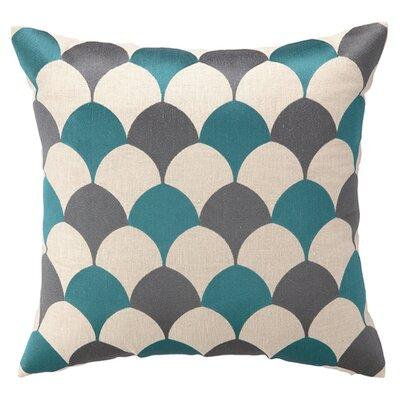D.L. Rein Scales Linen Throw Pillow Color: Sea Blue